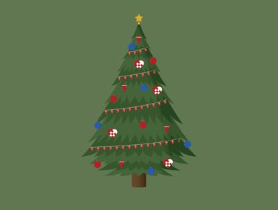 Christmas tree 1 - Illustrator