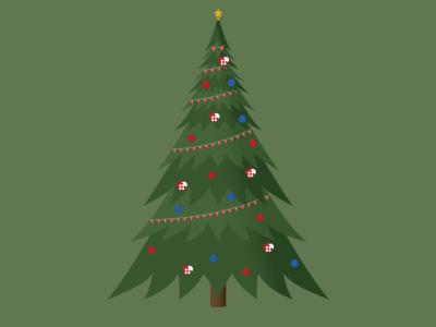Christmas tree 2 - Illustrator