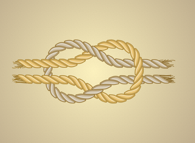 Reef knot - Illustrator
