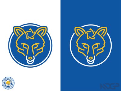 Leicester City Crest Modernization england football logo branding vector illustrator premier league soccer