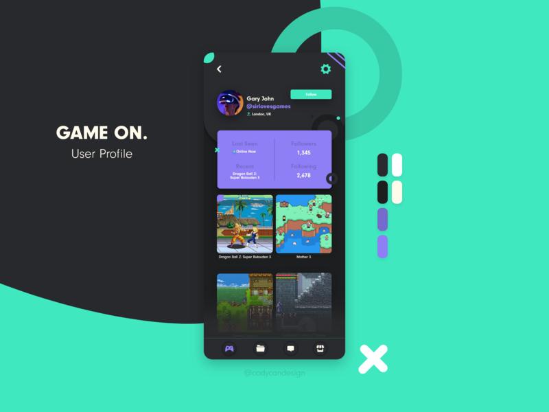 Gaming Social User Profile user profile concept ui dailyui