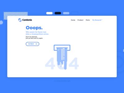 Error 404 Payment Screen