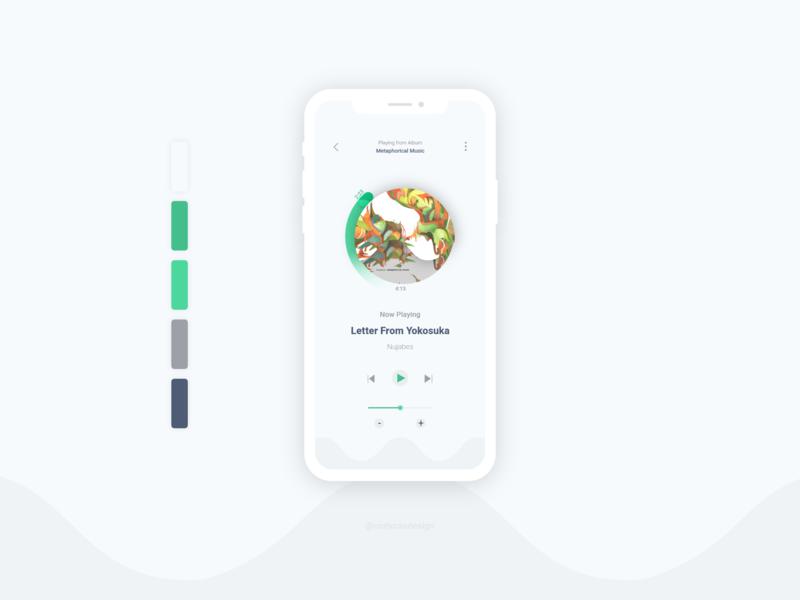 Music Player Daily UI music app design ui dailyuichallenge dailyui