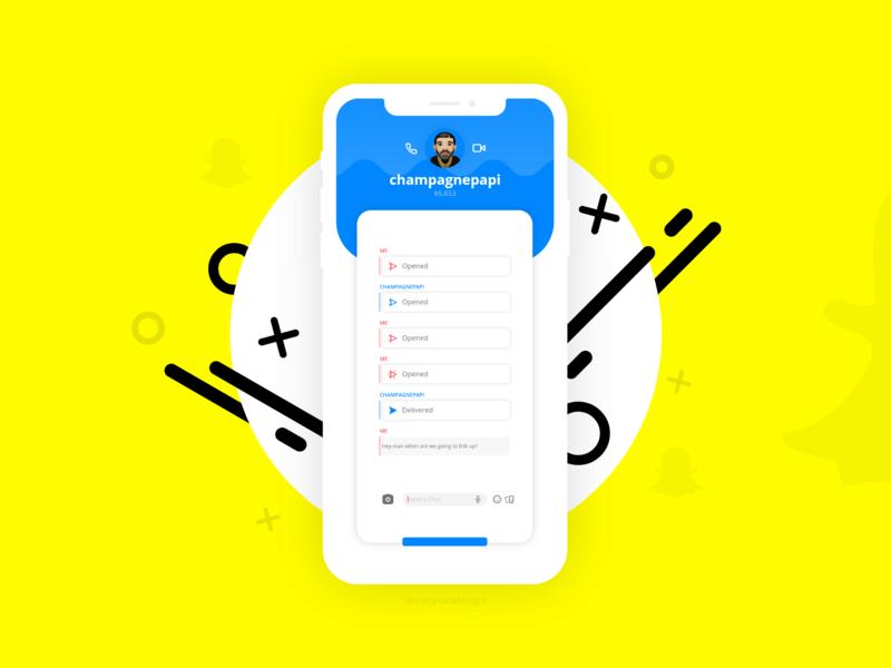 Snapchat Direct Message Daily UI directmessage socialmedia snapchat ui dailyuichallenge dailyui