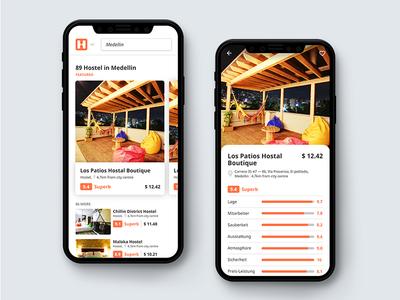 Hostelworld App Redesign ✈️ invision studio minimal ux ui redesign invision hostel hostelworld app
