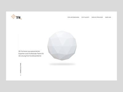 TFN Website Concept ◽ webgl web design ux ui threejs motion design motion interactive animation 3d