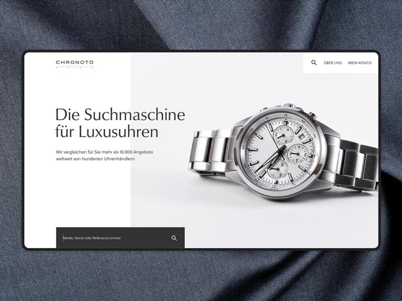 chronoto website concept wristwatch luxury watches ecommerce branding webdesign design interface ux ui