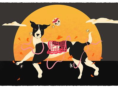 Perrito para Frida day of the dead doge dos