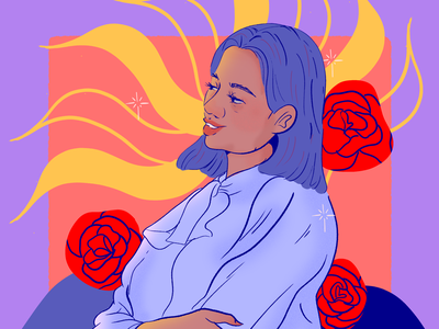 La mamá de Sara woman art mexico strong women mothers day love pride roses illustration mother