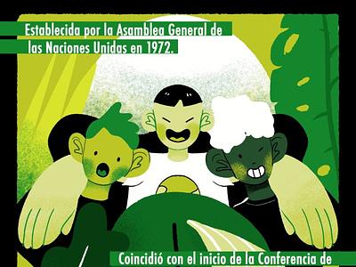 día del medio ambiente ft. NotaRandom plants people world love kids design art mexico illustration medioambiente