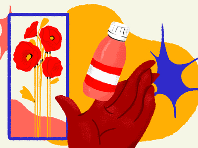 amapola medicinal amapola medicine illustration