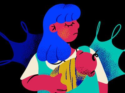 Embarazo Adolescente pregnancy kids birth art mexico illustration