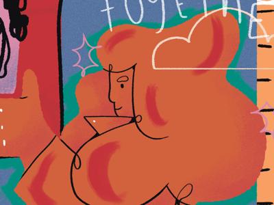 Extract de una portada para un newsletter feminism woman illustration newsletter feminismo