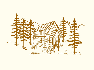 Cabin in the mountains