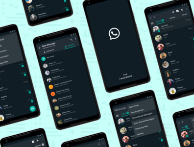 Enhancing the UX of WhatsApp unread dark mode figma design uikit feature challenge uidesign dark android app app design redesign uxcasestudy uiux ui figmadesign figma whatsapp redesign whatsapp