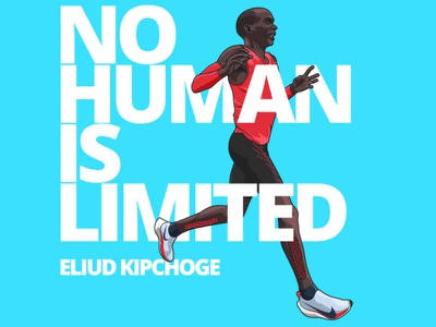 Eliud Kipchoge qotd quotes marathoner marathon kipchoge eliud runner vectorart vector illustrator graphic illustration digitalart design adobeillustrator