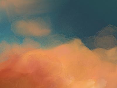 Procreate Clouds ipad product design color procreate art illustration design