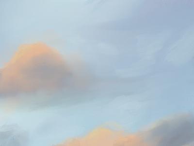 Procreate Clouds ipad color app minimal designs procreate art illustration design