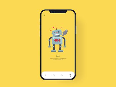 Daily UI #008 / 404 Pages dribbble mobile illustrator branding daily ui app mockups design ui illustration daily dailyui 008 dailyui