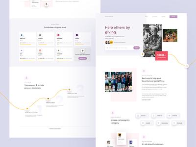 Crowdfunding Website website web typography branding daily ui dailyui app mockups design ui