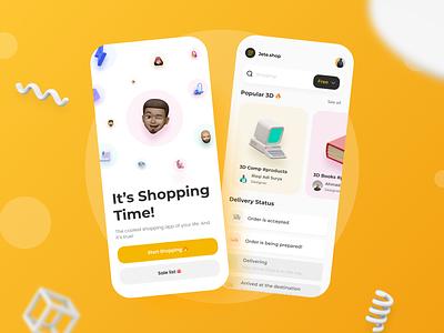 Shopping Mobile Page mockups design branding shop app vector dailyui daily ui illustrator illustration ui
