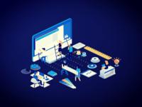 Creative startup vector