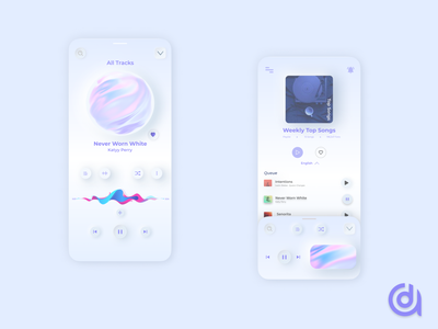 Abume Music App (Neumorphism) player minimalism music app music redesign web design ux user experience ui product design mobile neumorphism neumorphic interface interaction design user interface branding dribbble app design app