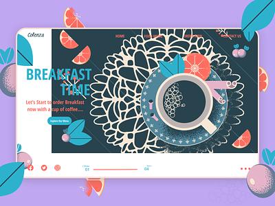 Cofenza Restaurant Landing Page recipe abstract cooking web design ux ui design ui startup restaurant product design mobile minimal interface interaction design food figma business branding app design app