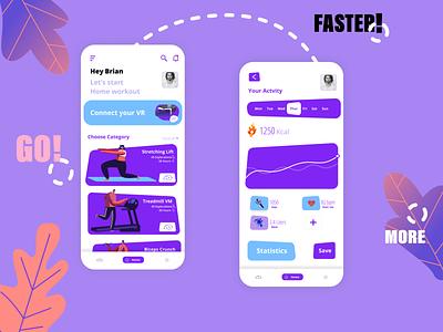 Ocufit Virtual Fitness dribbble sports web design ux ui design ui startup gym virtual reality product design mobile minimal interface interaction design food fitness branding app design app dashboard