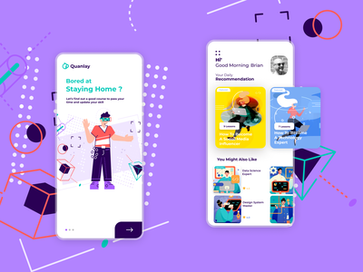 Quanlay online education and teaching app ios video call learning isolation figma design education courses web design ux ui startup product design mobile minimal interface interaction design dribbble dashboard app design app