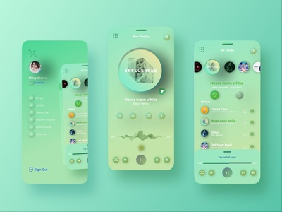 Music app light web ux user interface design user inteface user experience design user experience ui skeumorphism player neumorphic neumorphism neumorph music player music mobile ui mobile app design mobile app mobile minimal ios iphone app design interface interaction design gradient concept