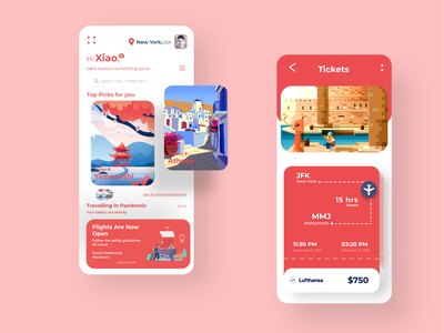 Traveling app web design web ux user interface uiux ui trip planner travel app booking travel agency services online booking tourism minimal ios iphone app design interface illustration design system user experience flight tickets clean cards components app