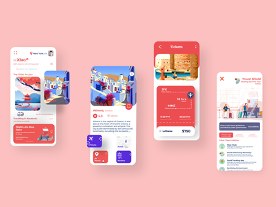 Traveling app Ios shot covid 19 web design web ux user interface uiux ui trip planner travel app booking travel agency services online booking tourism minimal ios iphone app design interface illustration design system flight user experience flight clean cards components app