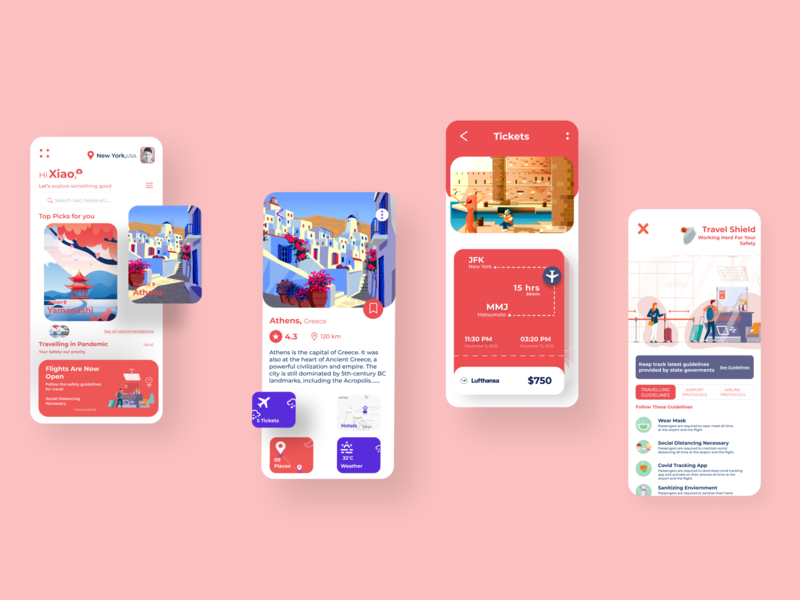 Traveling app Ios shot web design web ux user interface uiux ui trip planner travel app booking travel agency services online booking tourism minimal ios iphone app design interface illustration design system flight user experience flight covid19 clean cards components app