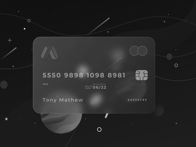 Glass card ux ui user experience product design modern freebie illustration art gradient gloss 3d style glass card finance interaction design mvp dashboard credit card money colorful logo clean simple card style card design branding minimal figma banking app design mobile abstract glass effect 3d mockup user interface