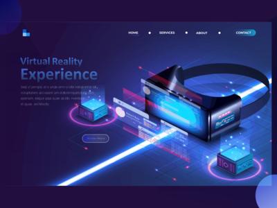 Virtual reality concept page