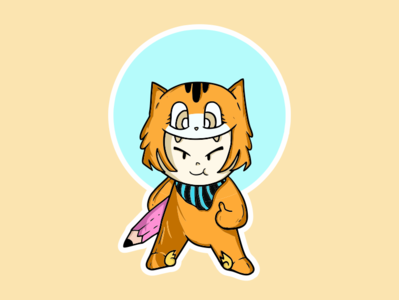 Ready to draw draw cute logo illustration cat