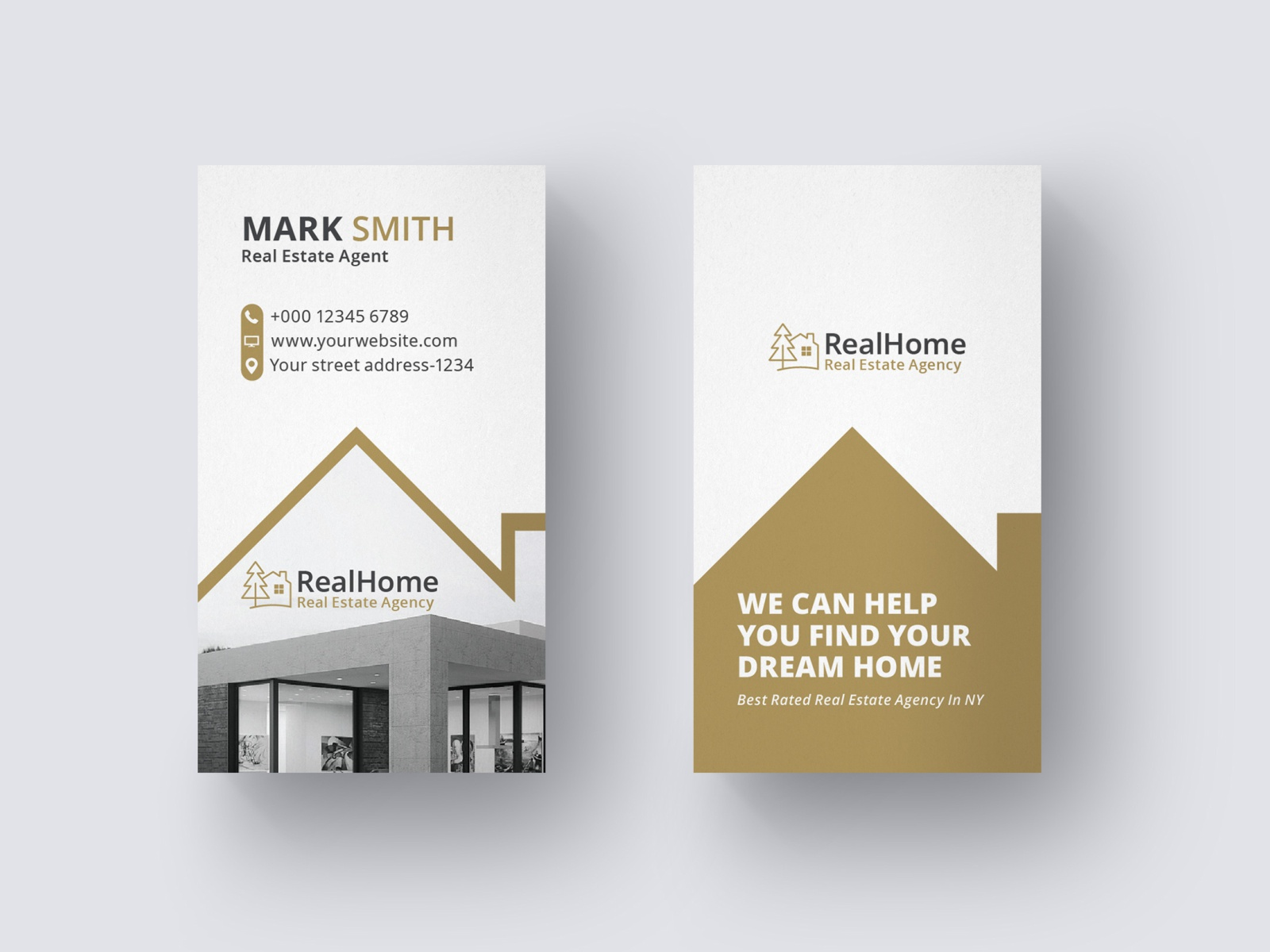 Real Estate Business Card Template By Mh Yousuf On Dribbble