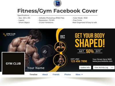 Fitness Gym Facebook Cover