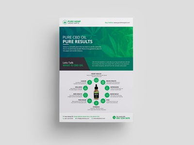 Hemp Product Flyer Template