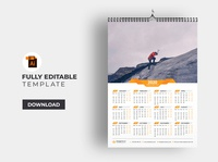 One Page Wall Calendar