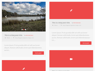 Irides - Blog Posts blog theme red flat
