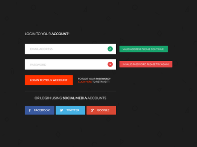 Login Form - f9pix subtle f9pix login form login ui simple colors photography social media user interface