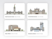 Government Buildings Illustrations, Canada