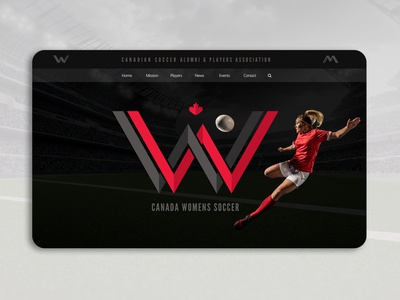 Canadian Woman Soccer Landing Page Concept