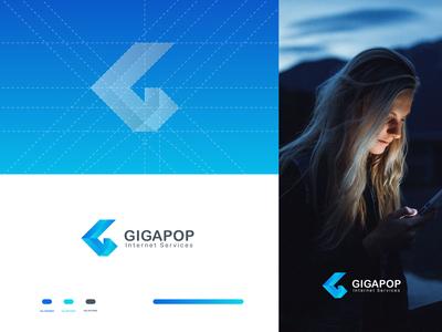 Gigapop Internet Service - Logo Design