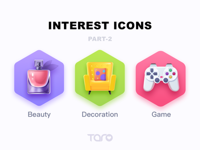 Interest Icons 2 perfume beauty sofa decoration graphic design game ui vector colorful illustration icon app flat