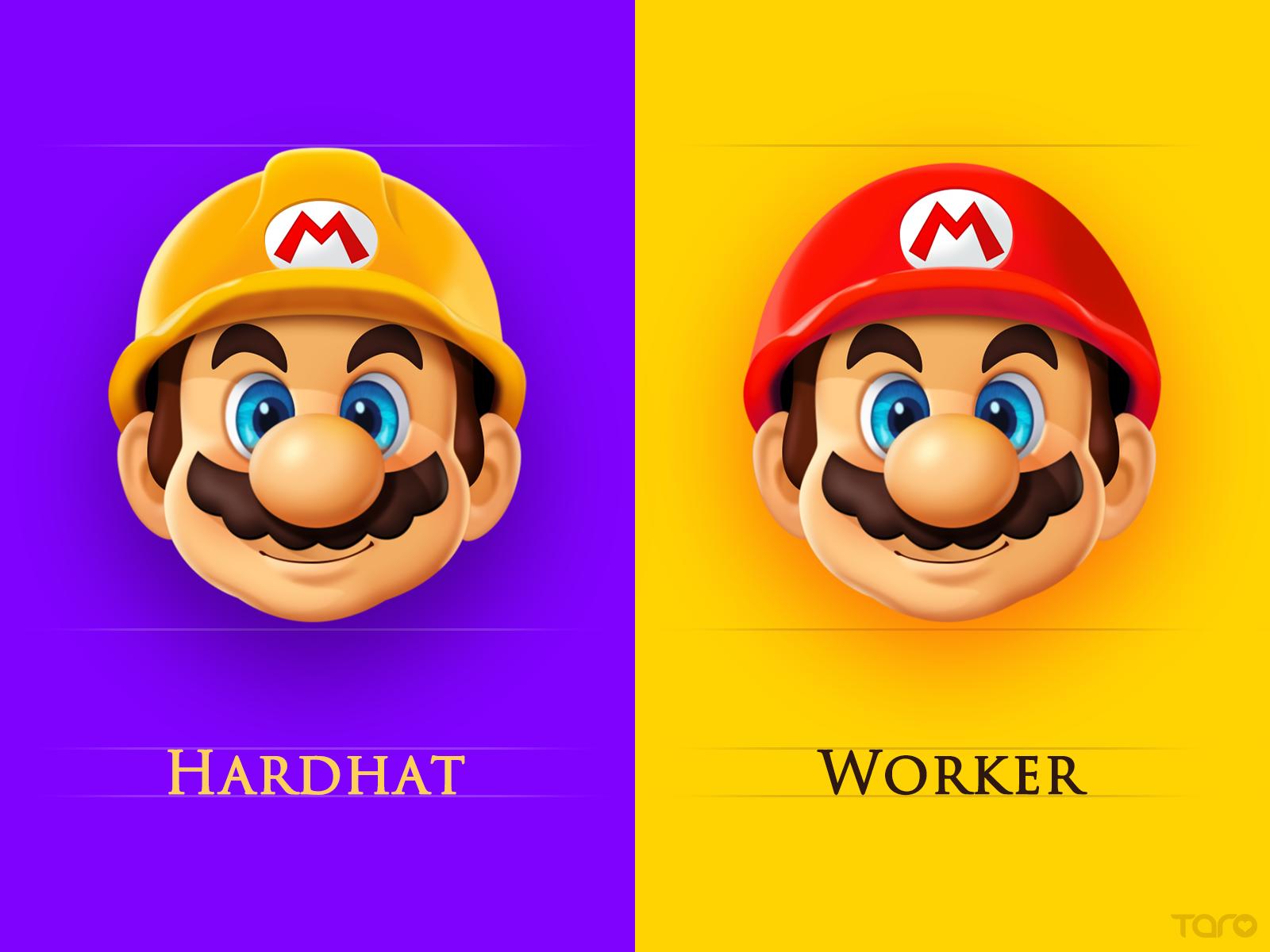 Mario character card1 by taro big