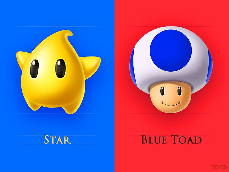 Mario character card2 by taro small