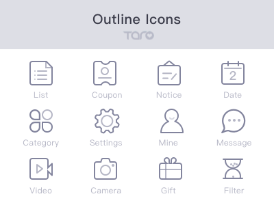 Freebie - Outline icons